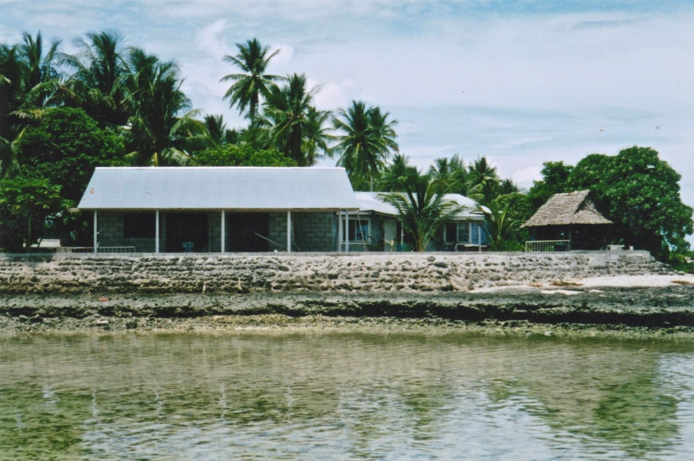 Kiribati sea wall