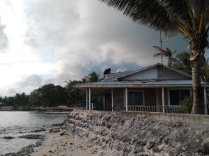 My family's house in Kiribati