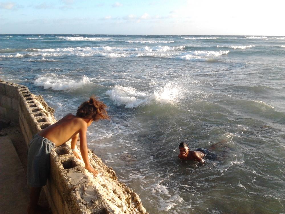Kiribati Tarawa sea wall