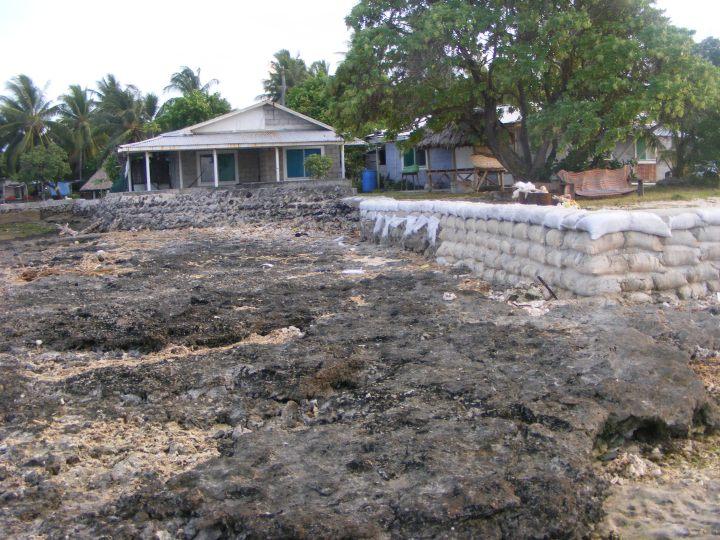 Kiribati sea wall