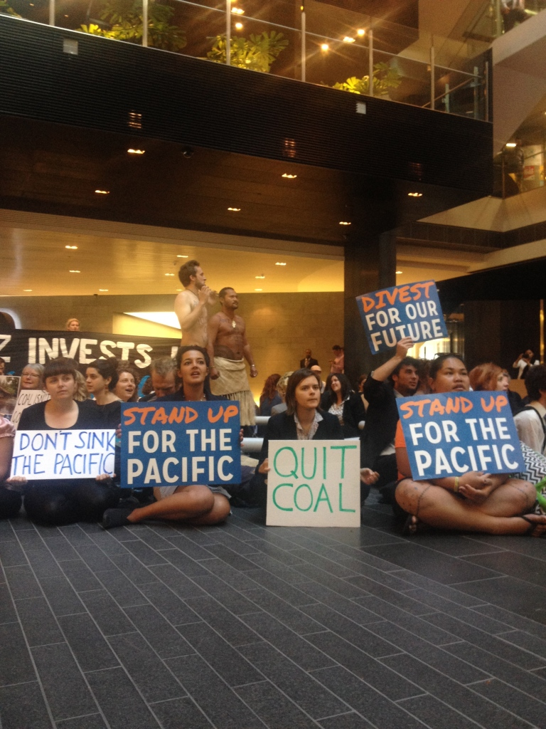 ANZ protest